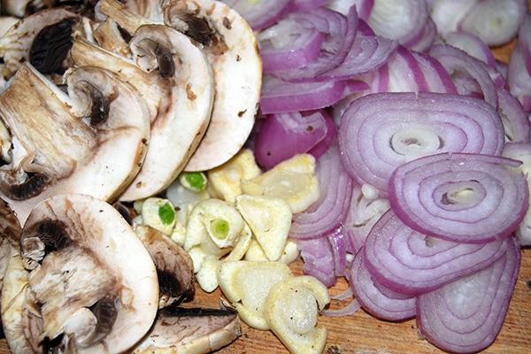 Zutaten für die Traubensauce