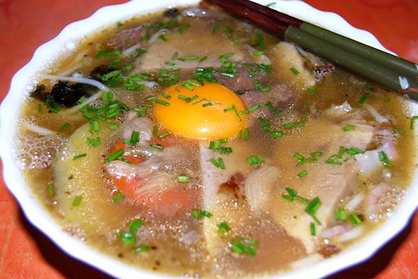 Acuh die zweite Protion am darauffolgenden Tag war beim Schlürfen der Suppe äußerst lecker