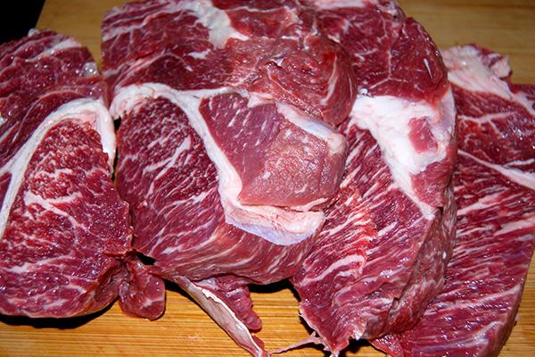 Herrlich marmoriertes Bratenfleisch