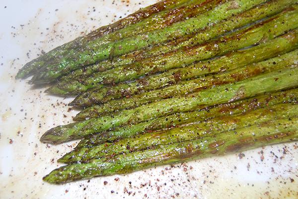 Gebratener grüner Saprgel
