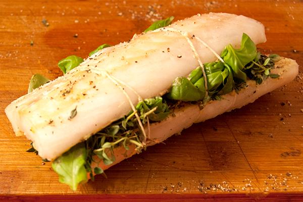 Kabeljau-Sandwich