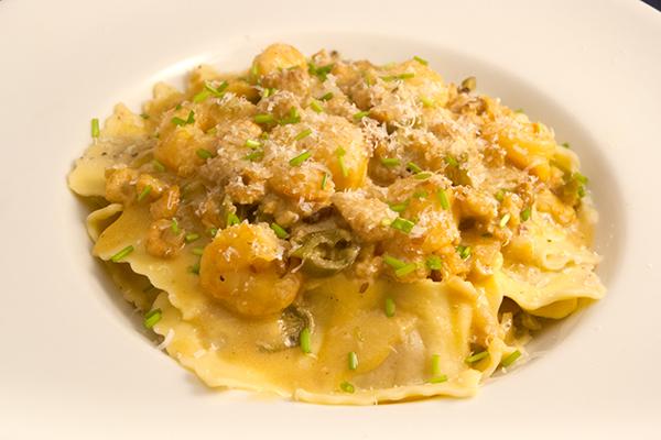 Pasta mit Meeresfrüchte-Sauce