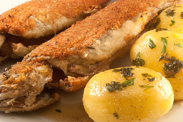 Forelle und Kartoffeln