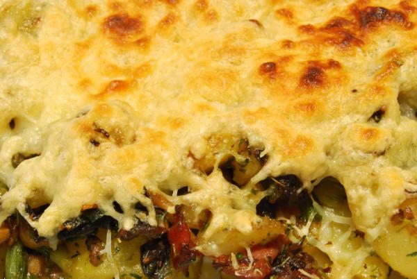Mit viel Käse überbacken …