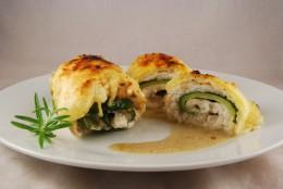 Pangasius-Zucchini-Rollen