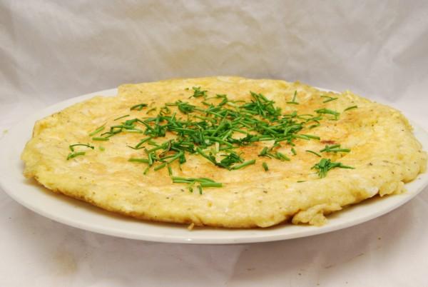 Würziges, kräftiges Omelett …
