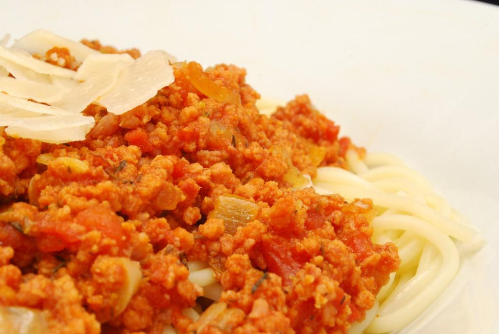 Spaghetti bolognese scharf