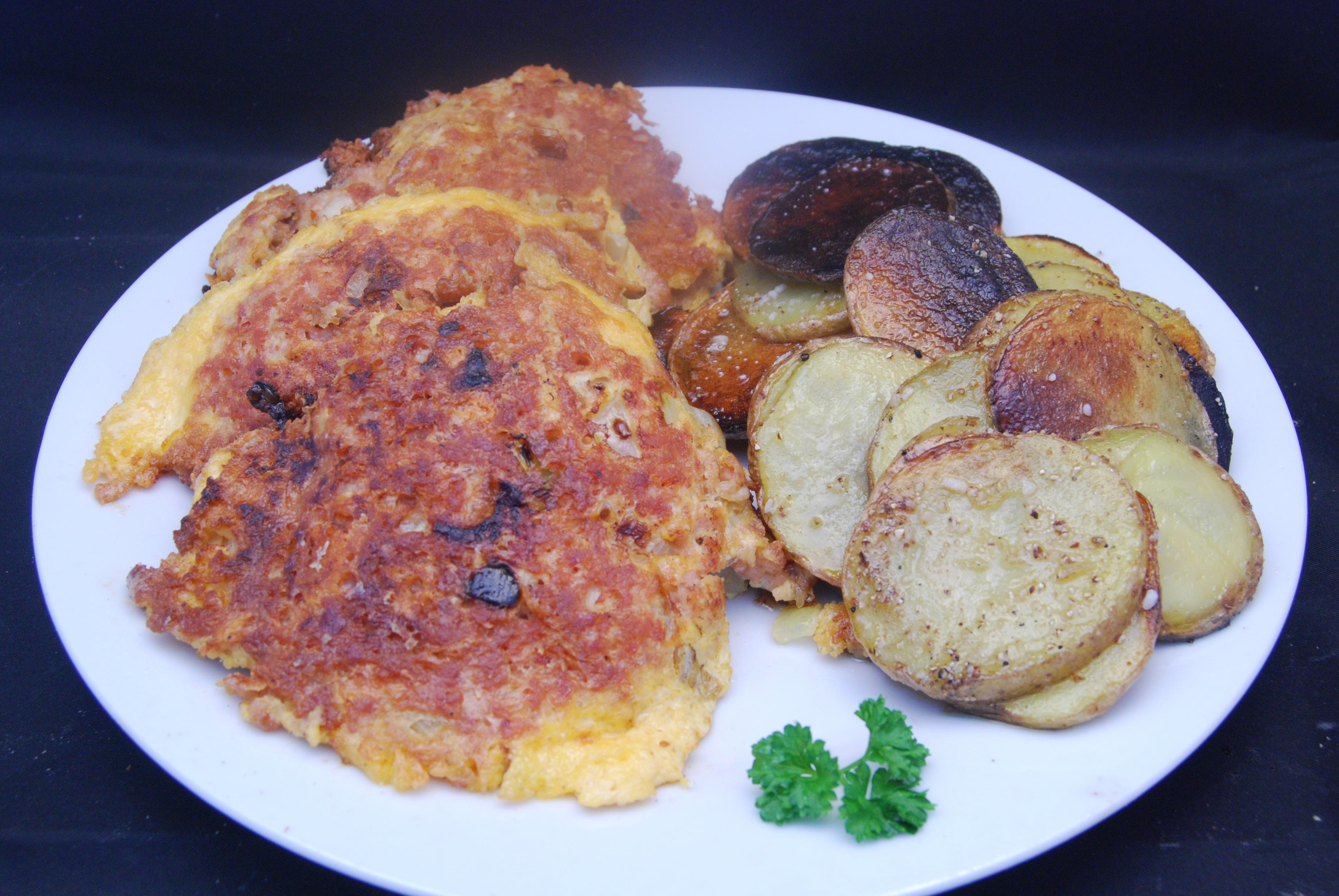 Frikadellen mit Kartoffeln