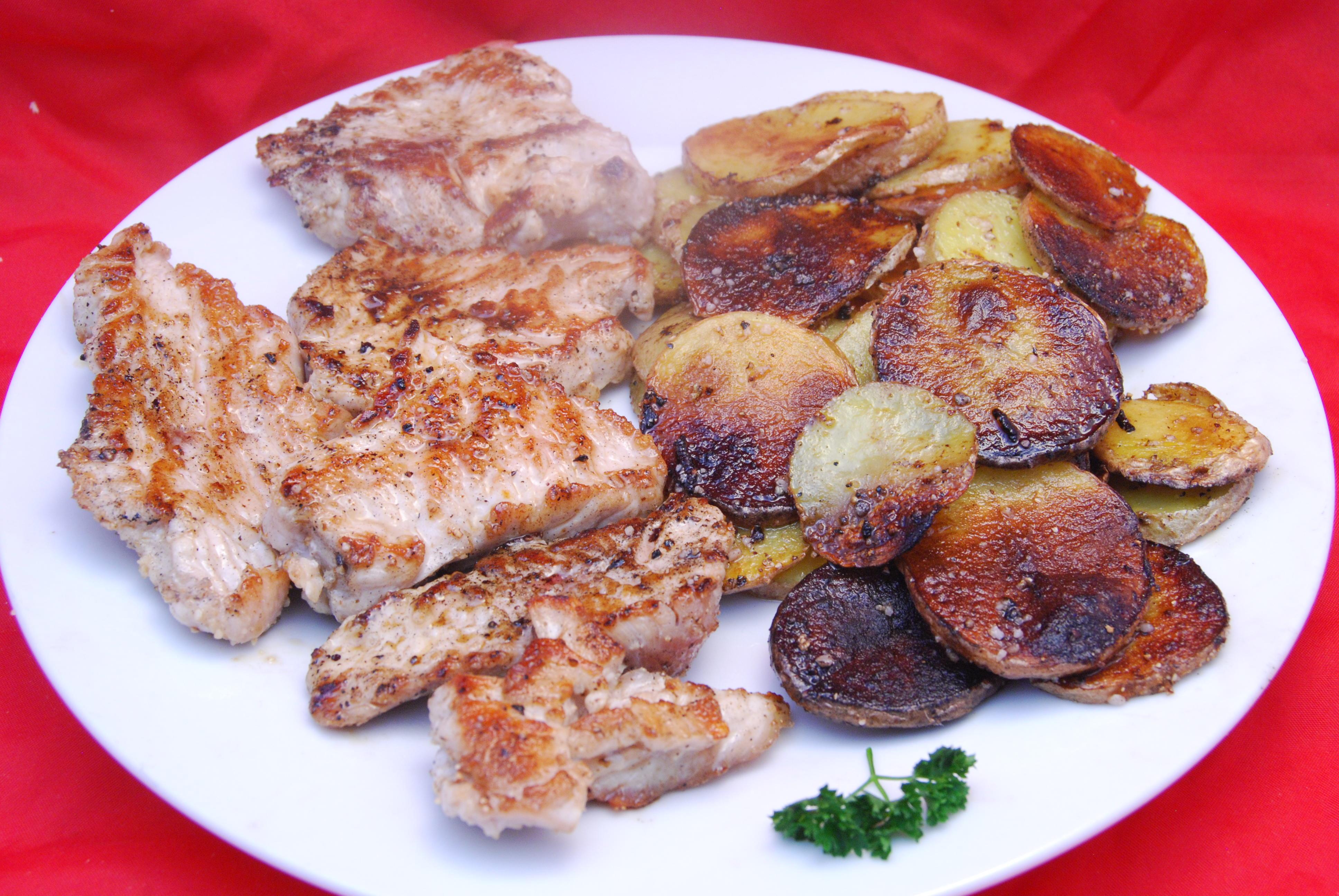 Leckere Putenbrust mit Kartoffeln