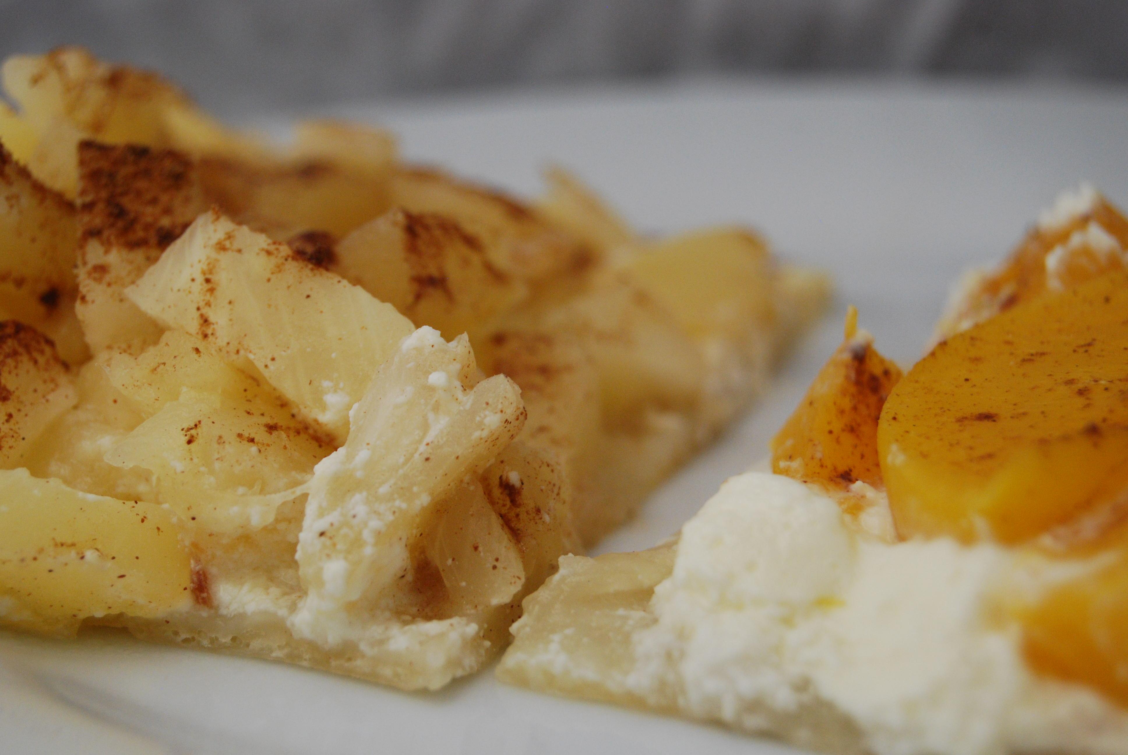 Pfirsich- und Ananas-Tarte