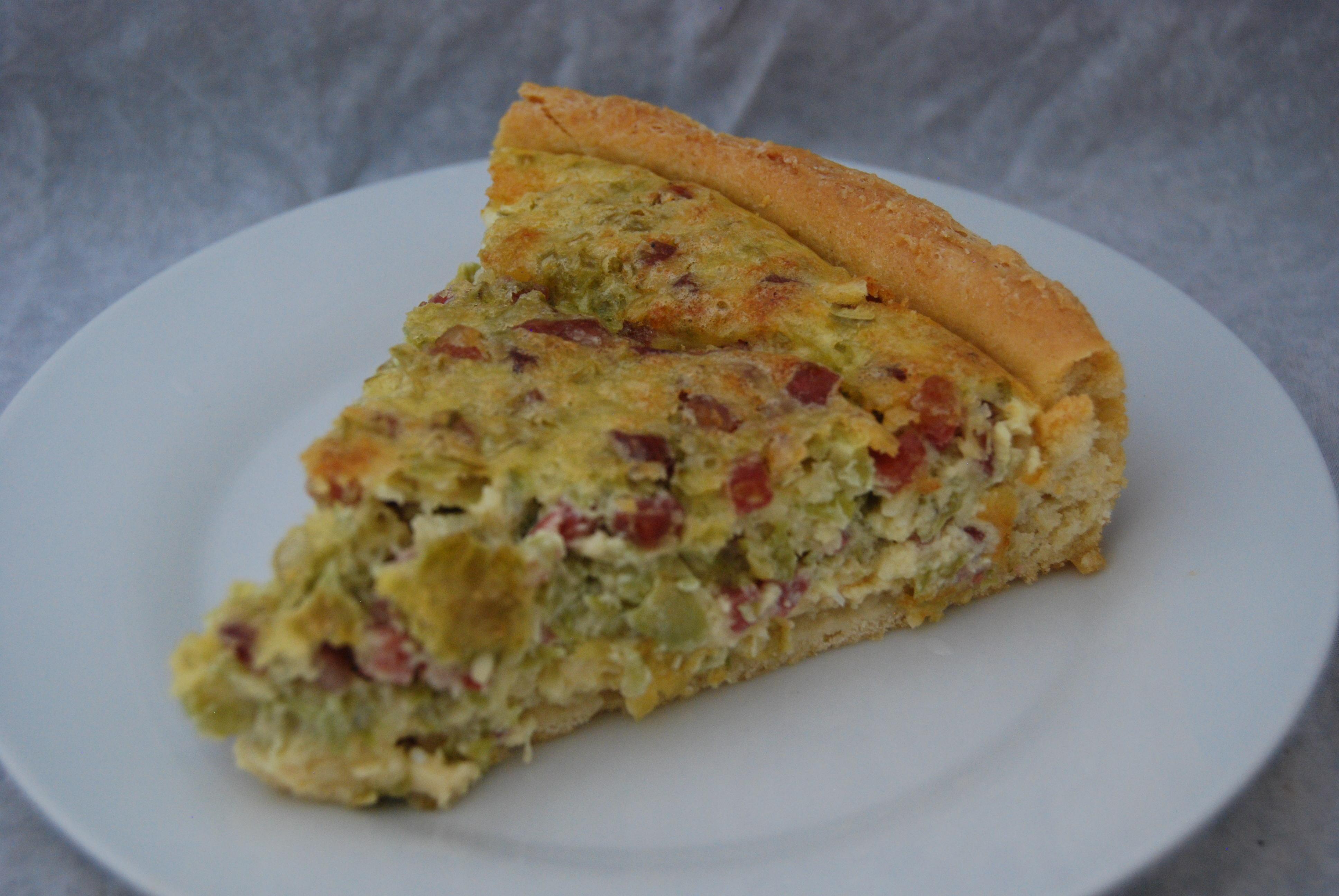 Bohnen-Schinken-Tarte
