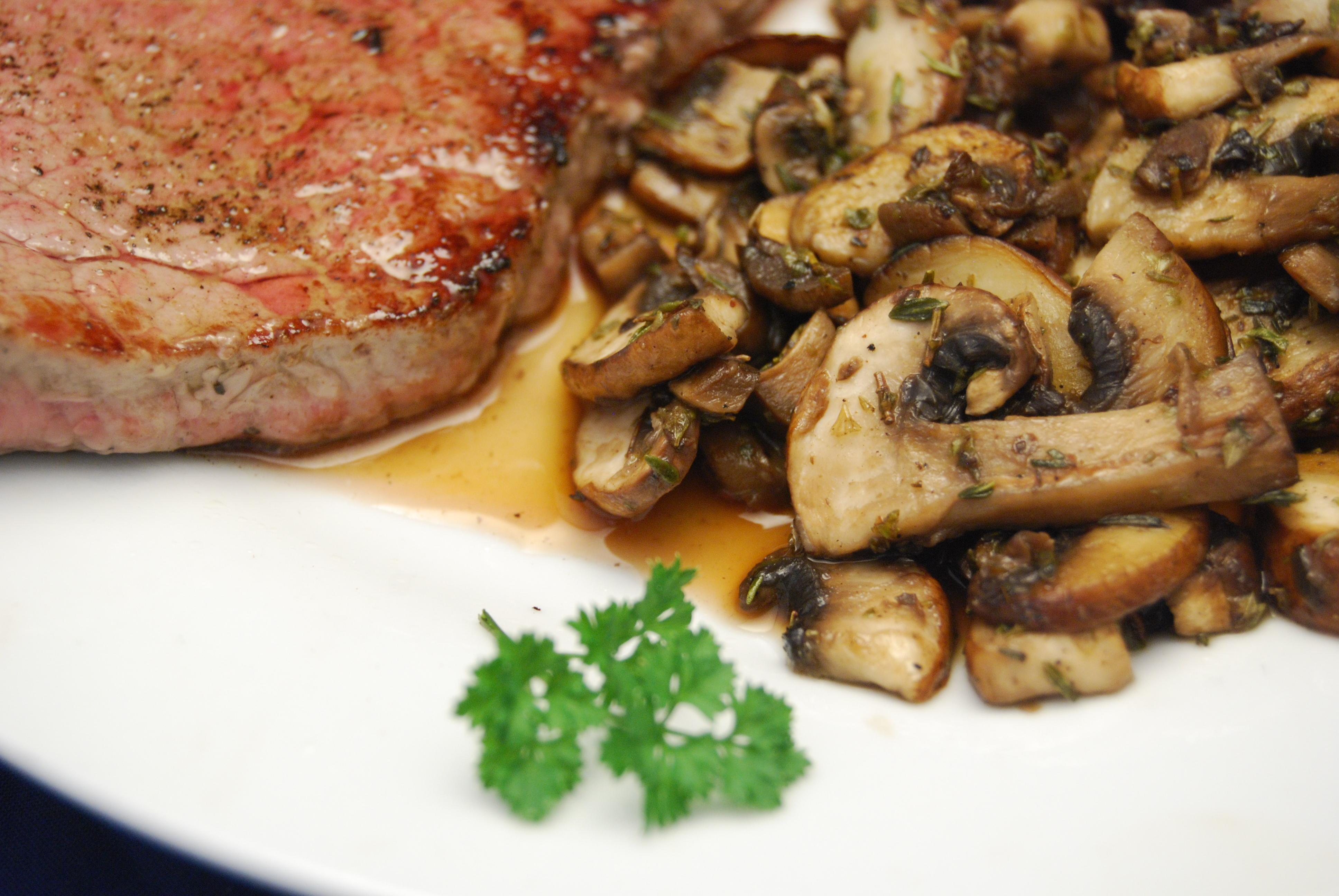 Irish Beefsteak mit Champignon-Gemüse