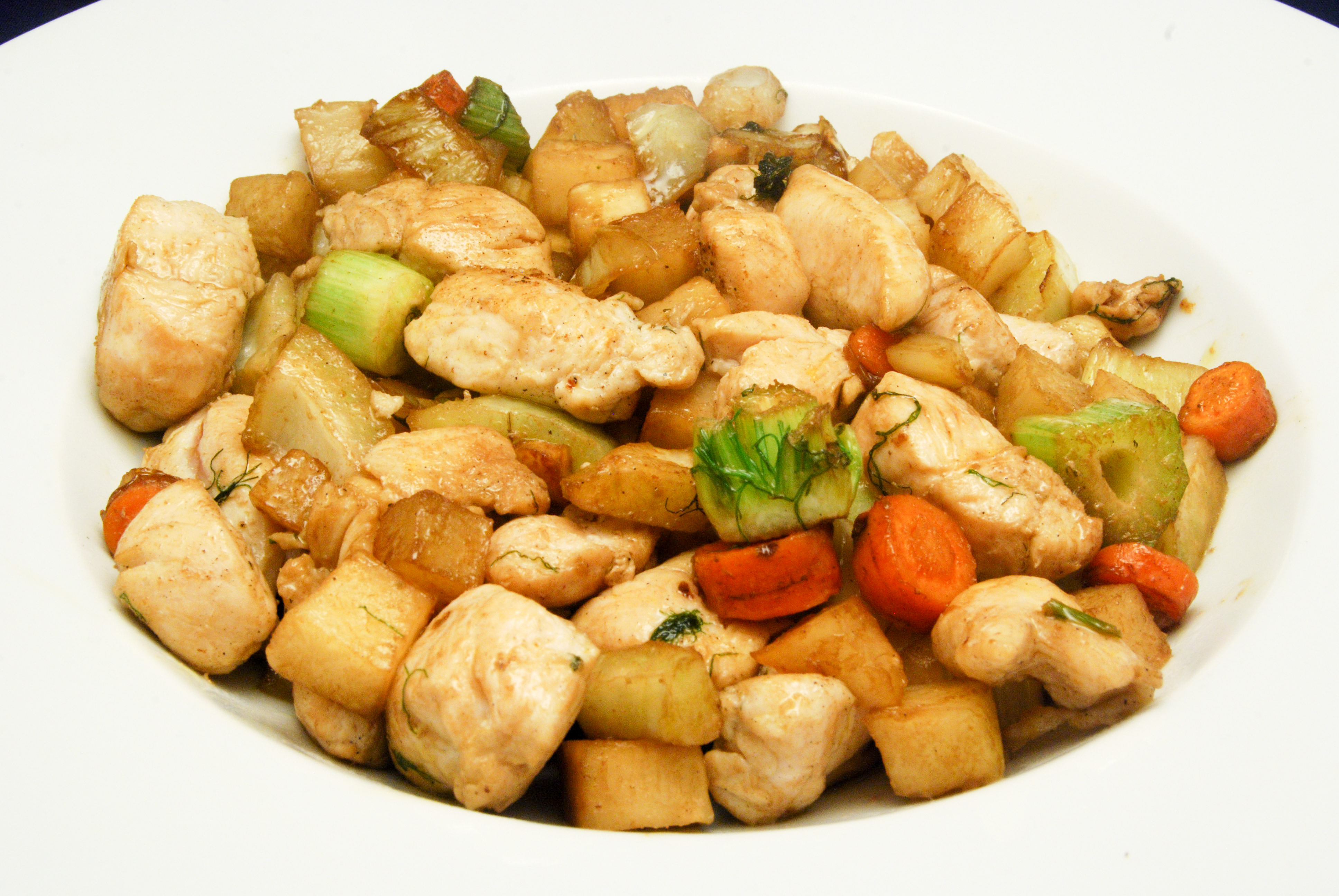 Hähnchen-Gemüse-Teller