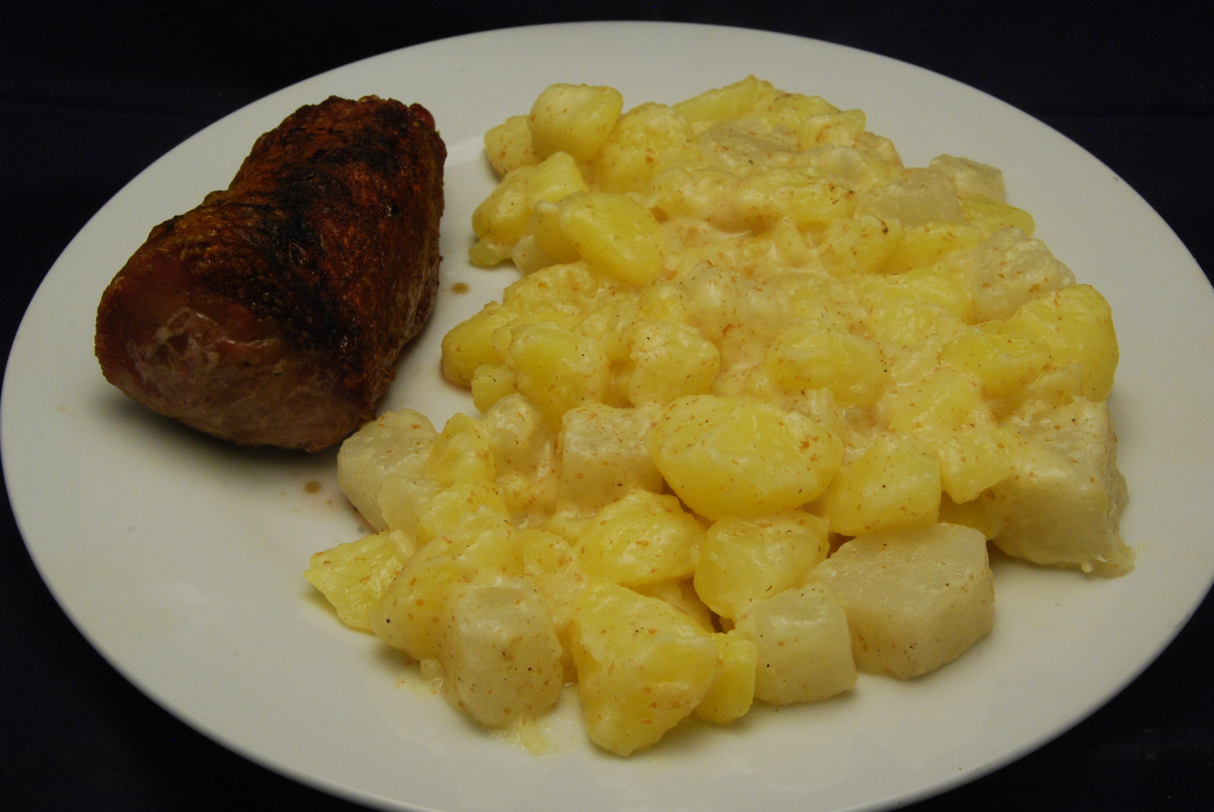 Schweinefilet mit Kartoffel-Kohlrabi-Gemüse