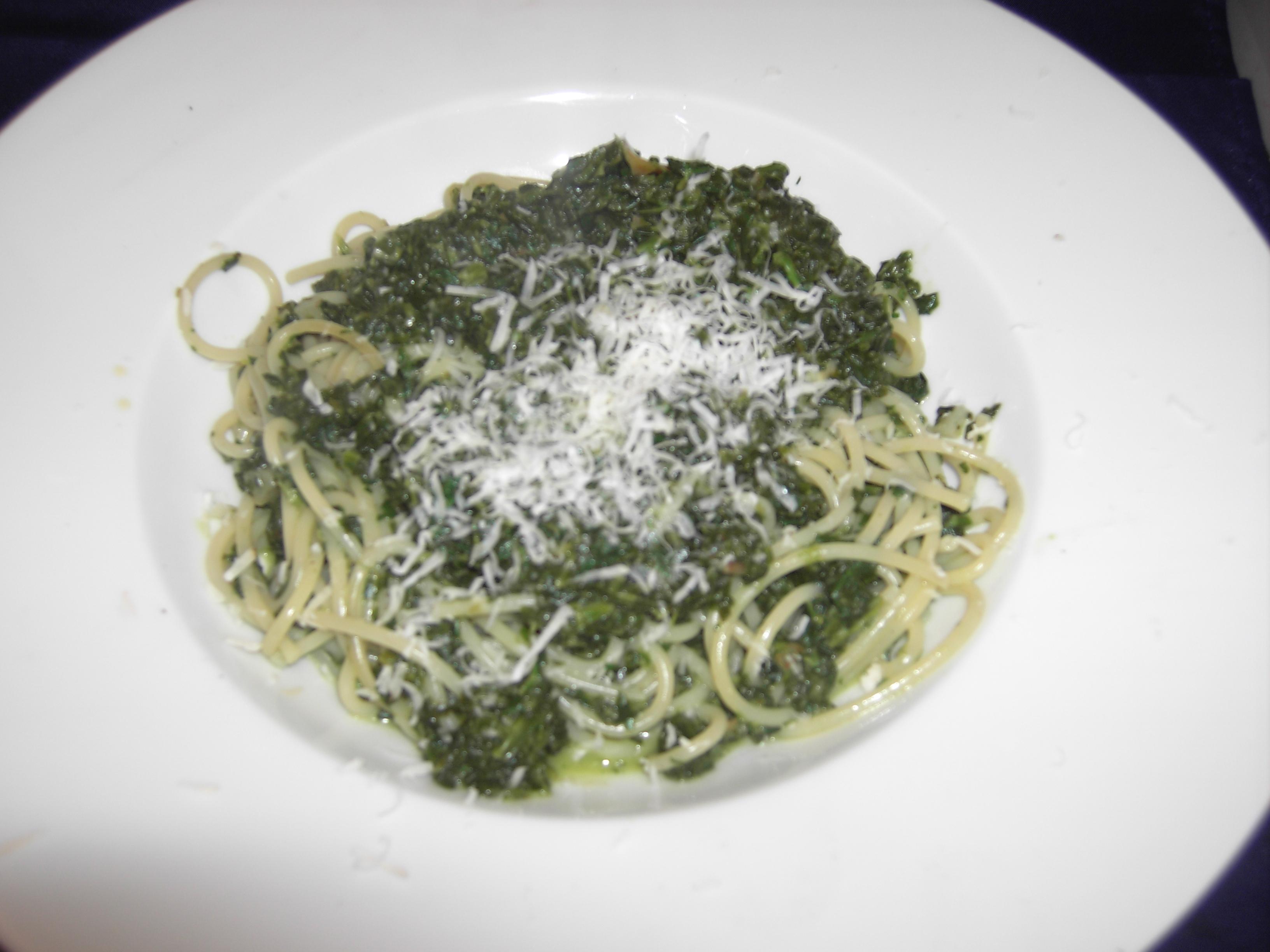 Spinat-Spaghetti