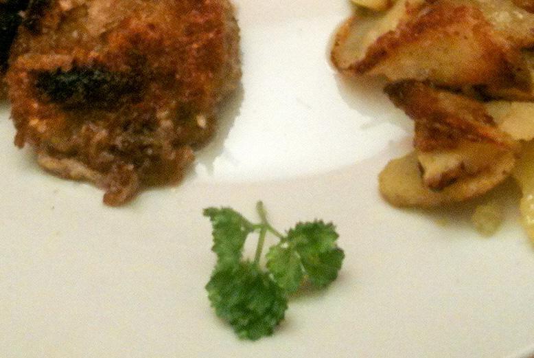 Gebratene Prärie-Austern mit Bratkartoffeln
