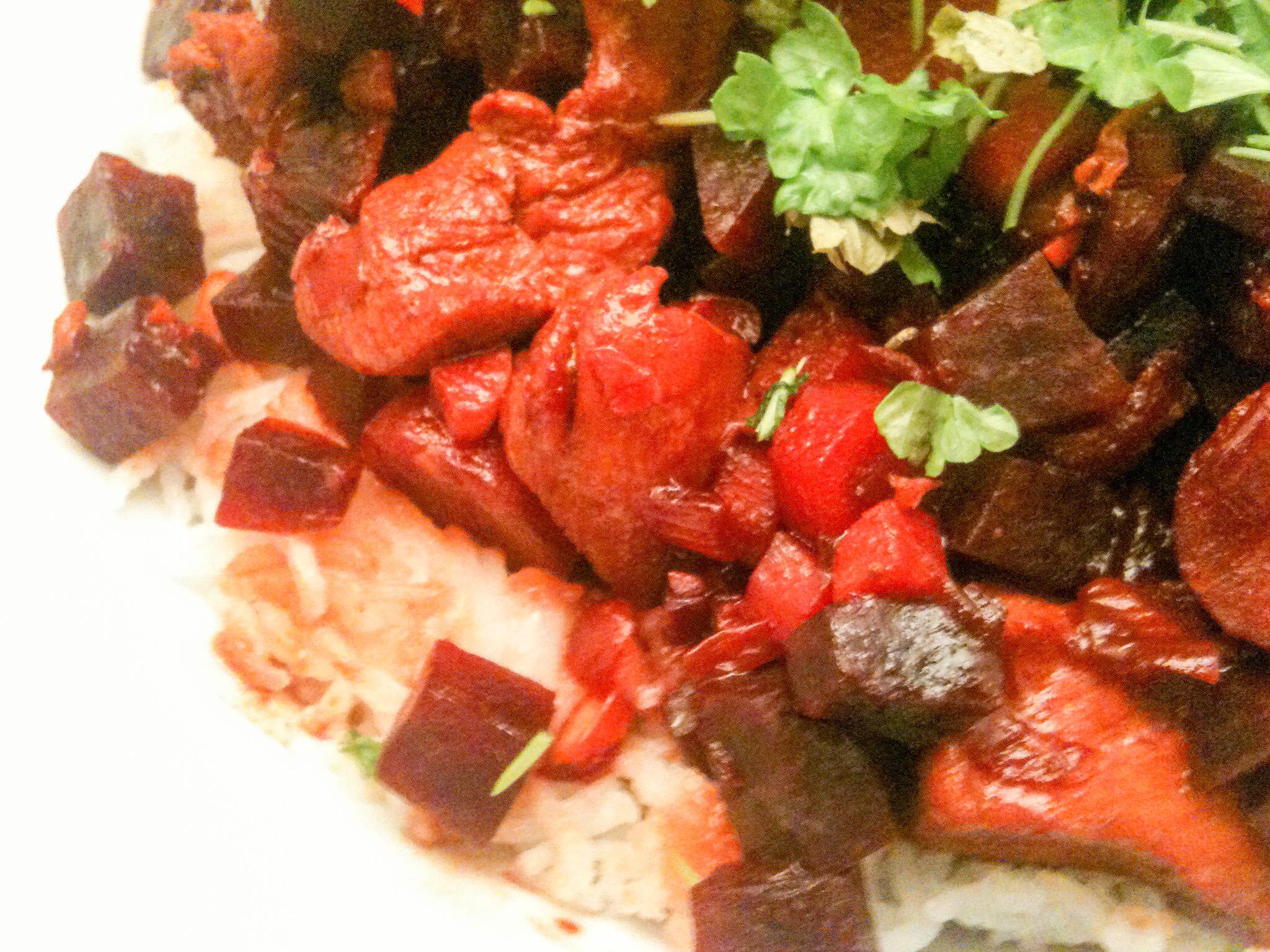 Hühnchen-Ragout mit Basmati-Reis