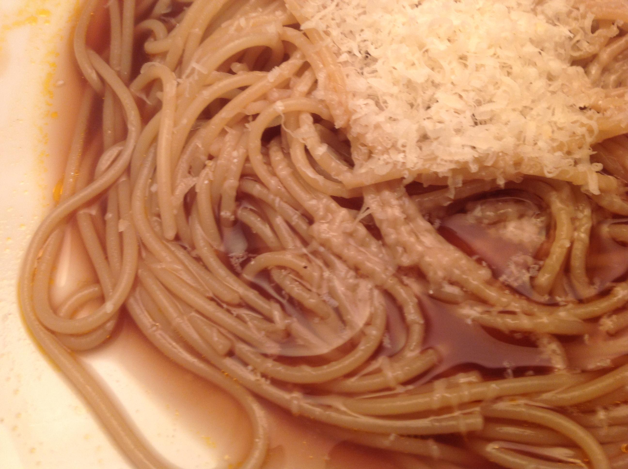 Spaghetti mit Braten-Sauce