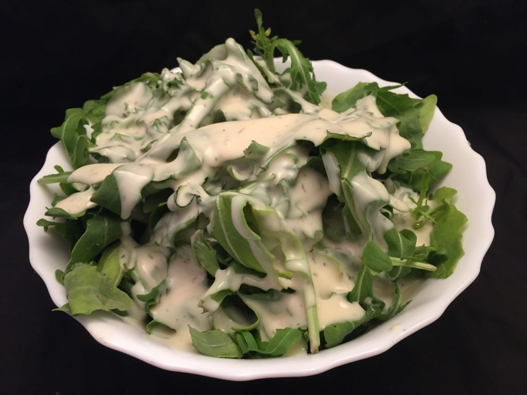 Rucola mit French Dressing