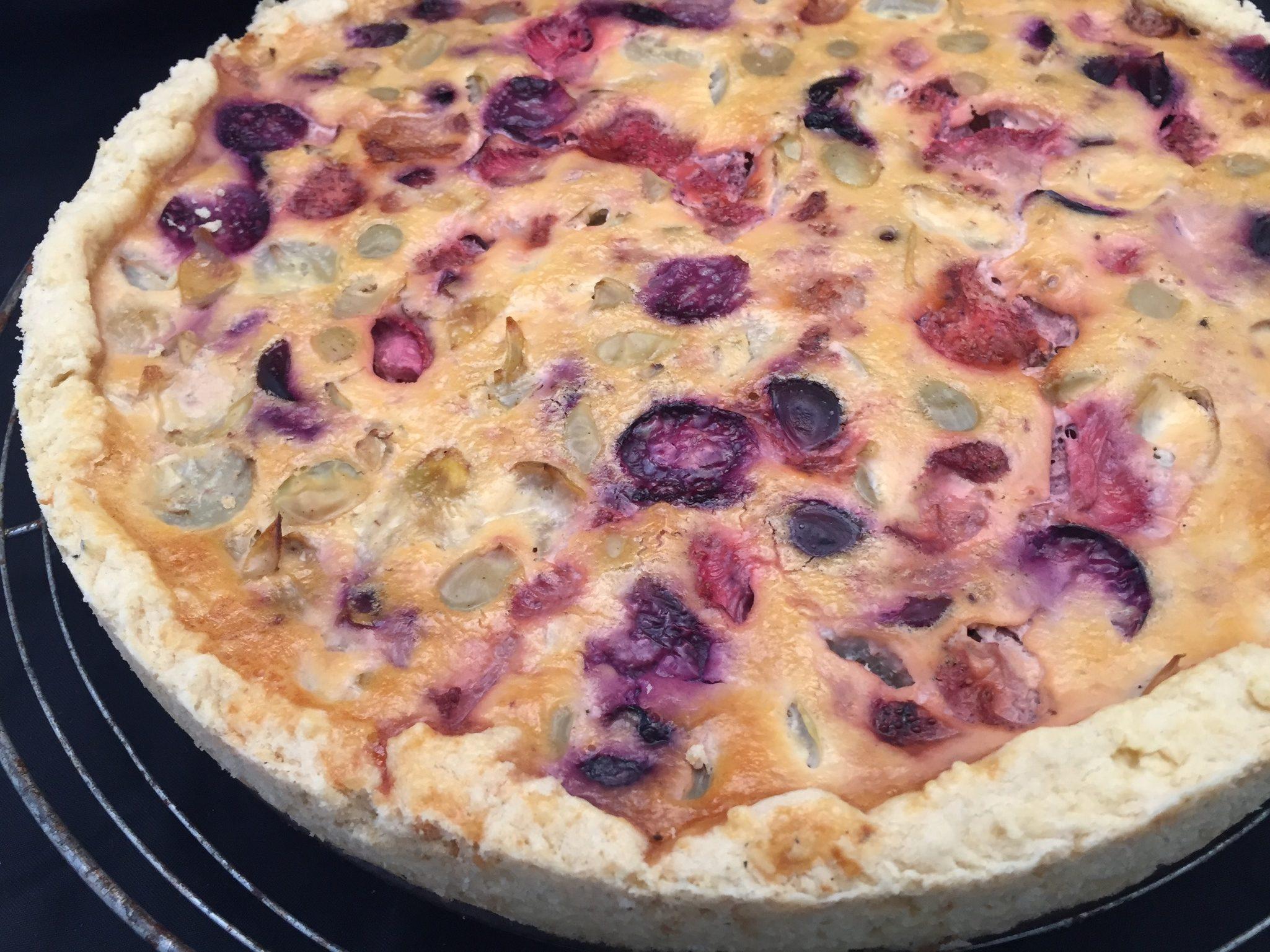 Trauben-Erdbeer-Tarte