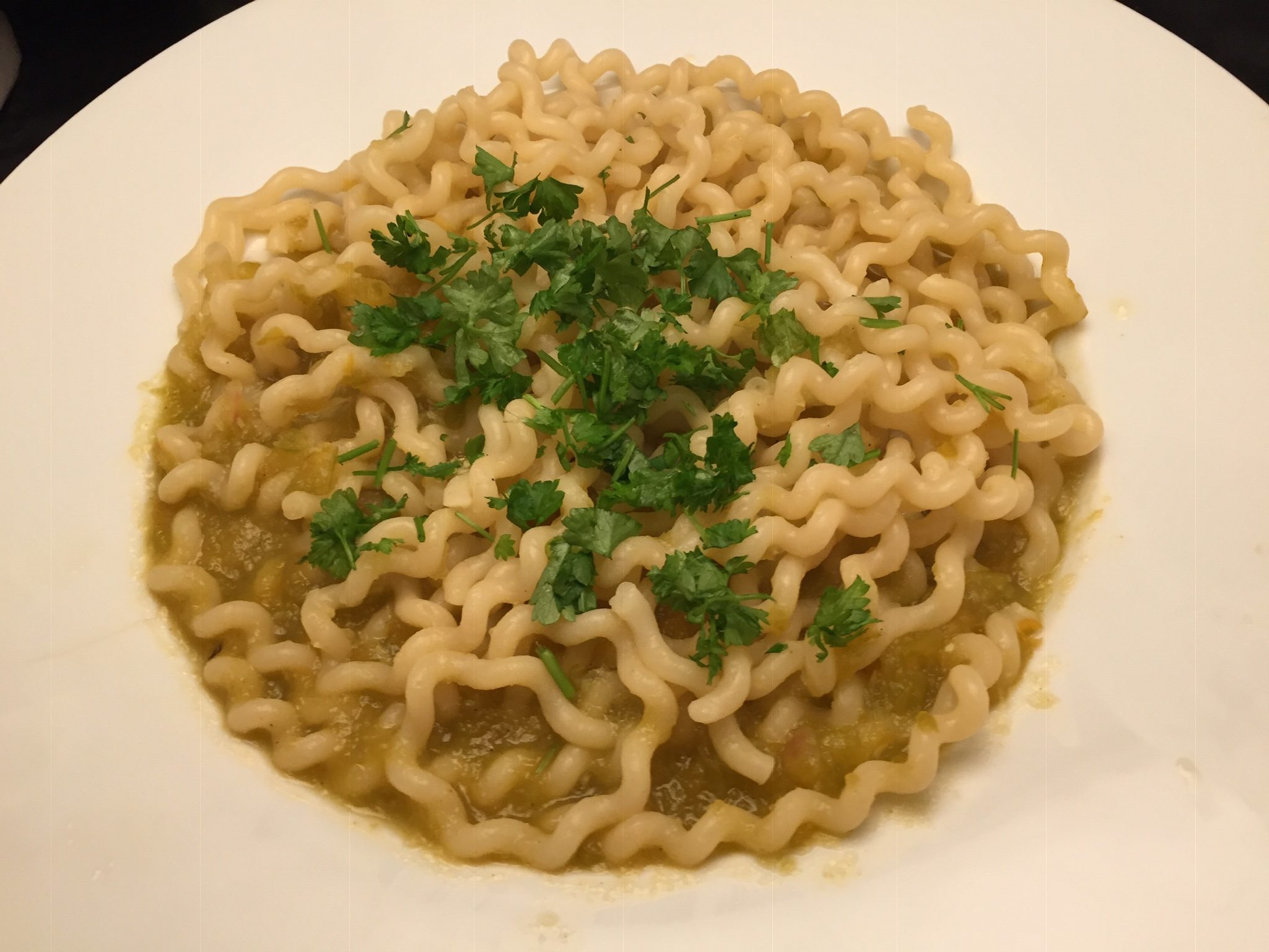Fusilli Lunghi mit Paprika-Riesling-Sauce