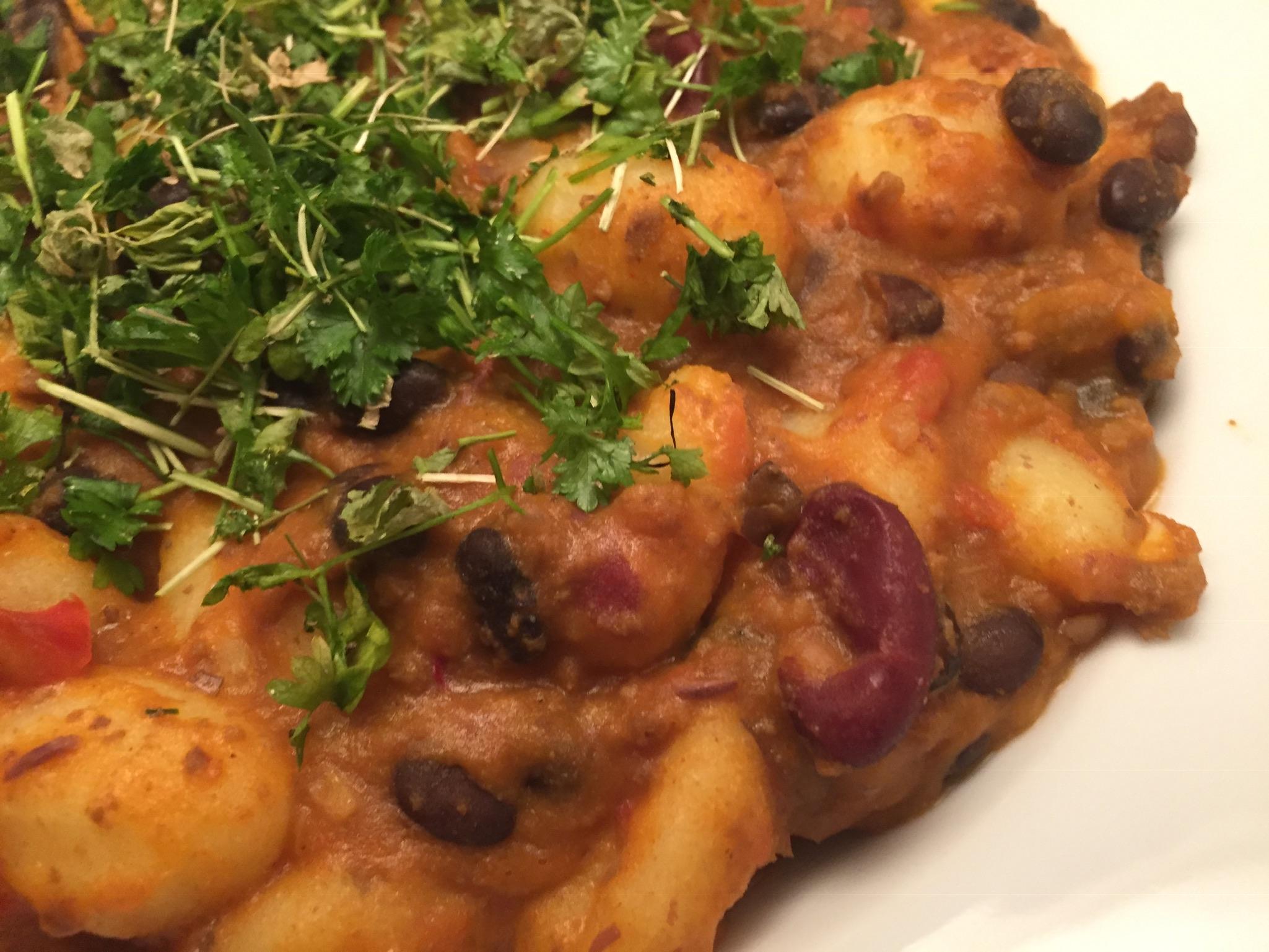 Chili con carne mit Gnocchi