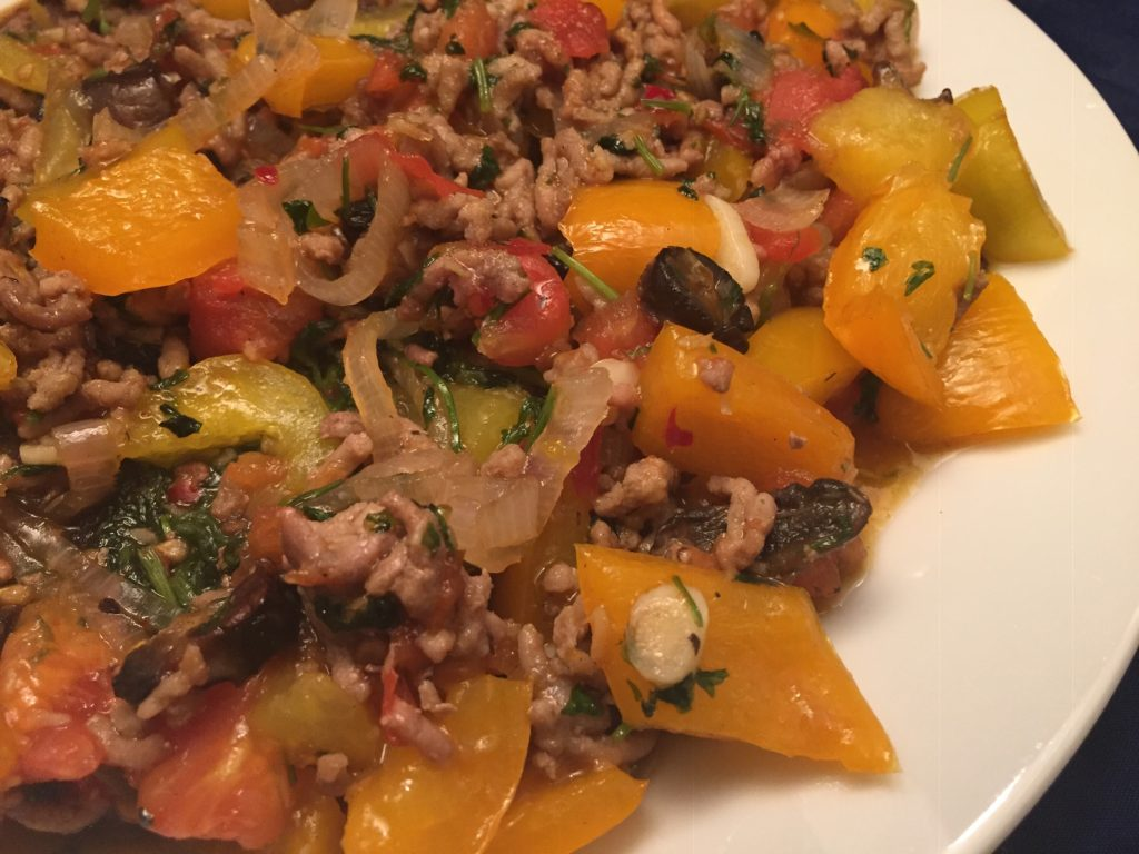Hackfleisch-Gemüse-Teller