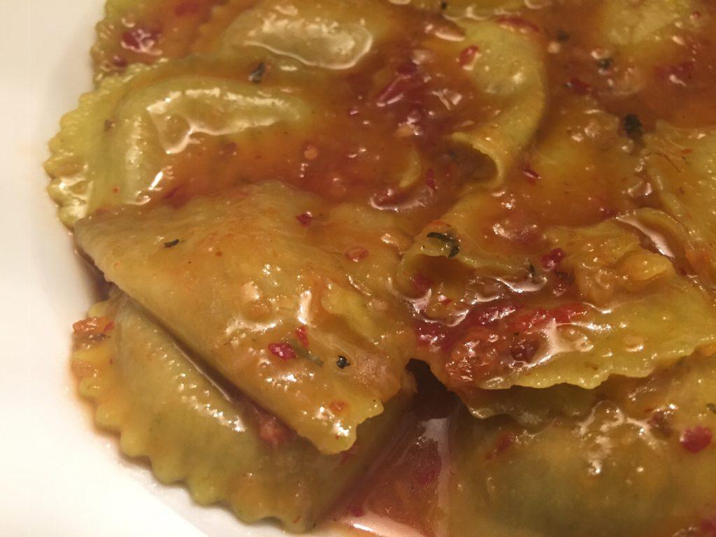 Girasoli mit Chili-Sauce