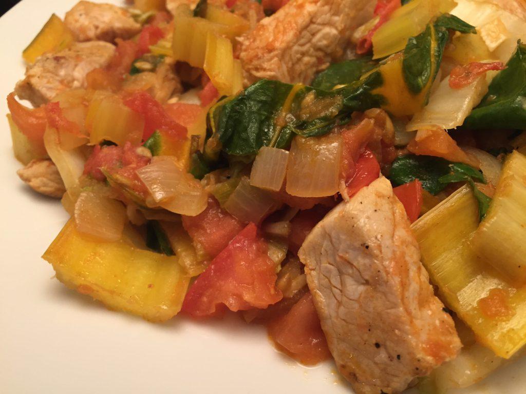 Pute, Gemüse und Penne Rigate