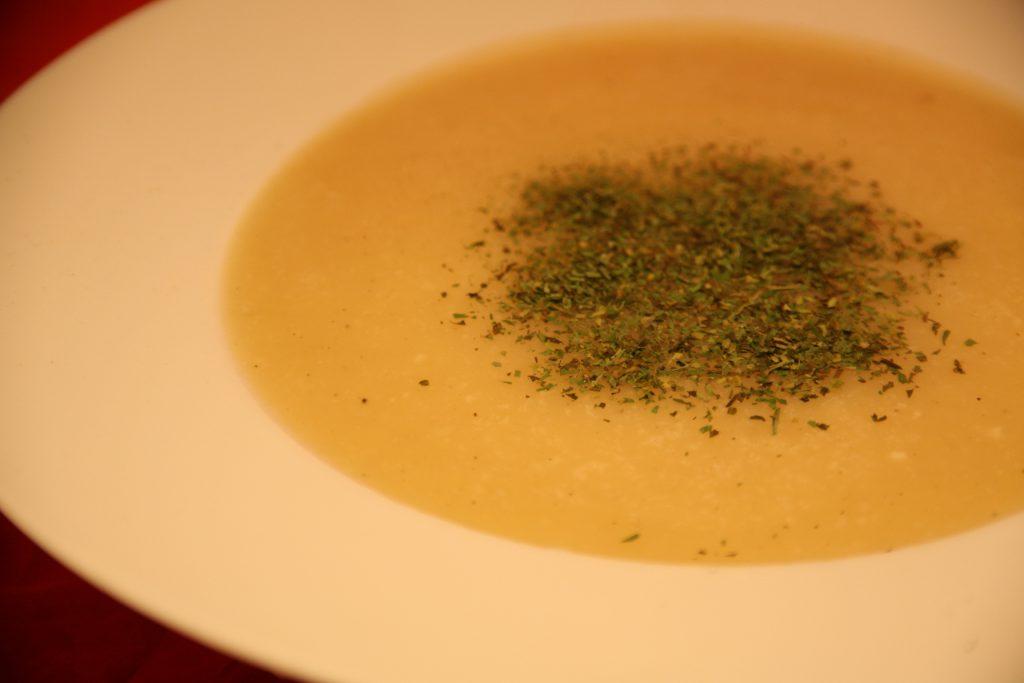 Kartoffel-Knoblauch-Creme-Suppe