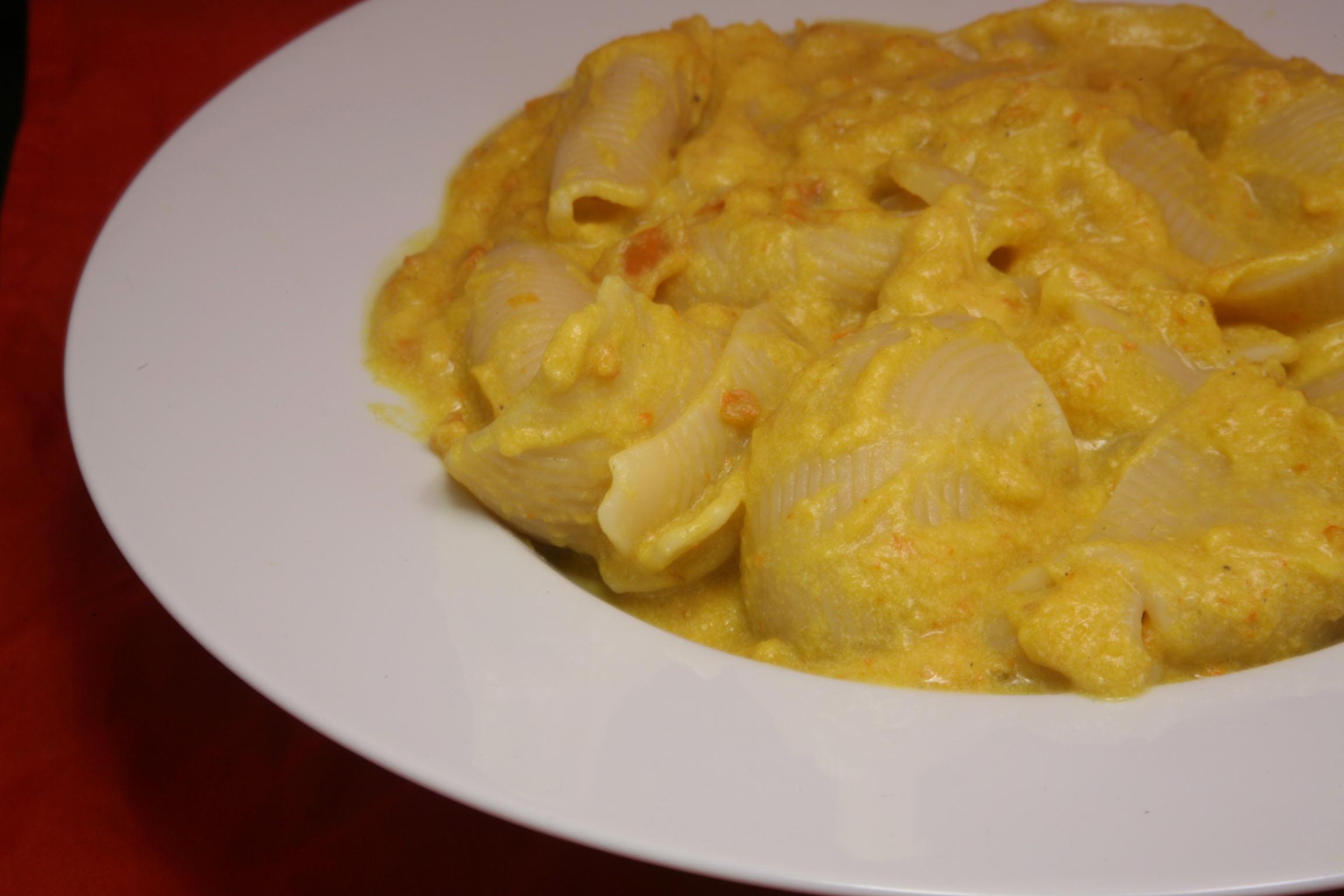 Conchiglioni mit Kürbis-Pesto