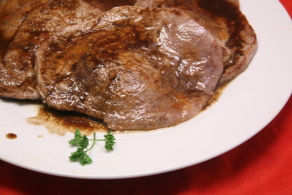 Rinder-Minutensteaks mit Worchestershire-Sauce