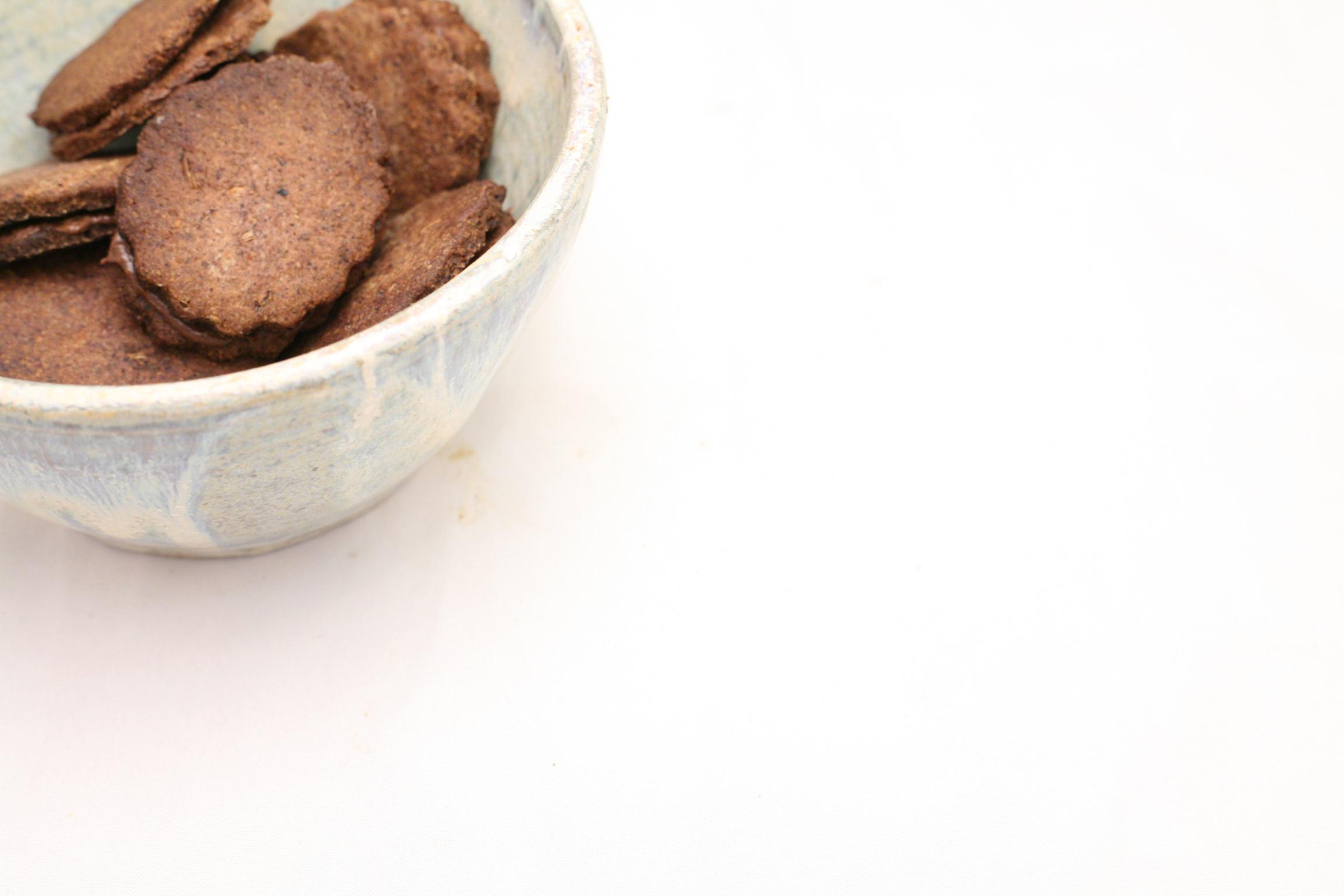 Reis-Fenchel-Plätzchen mit Nuss-Nougat-Creme