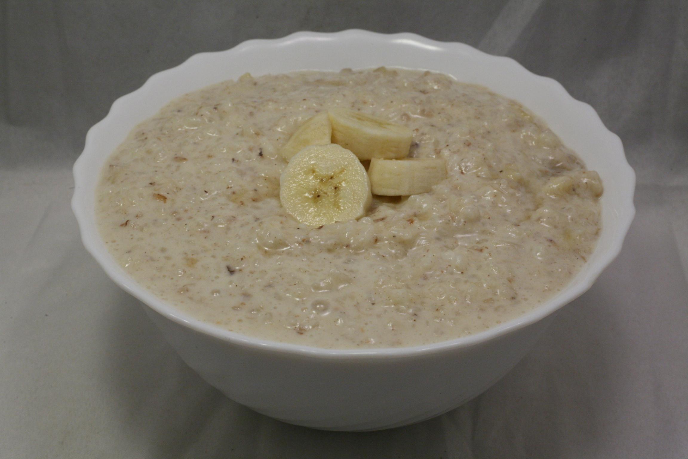 Bananen-Milchreis mit Honig