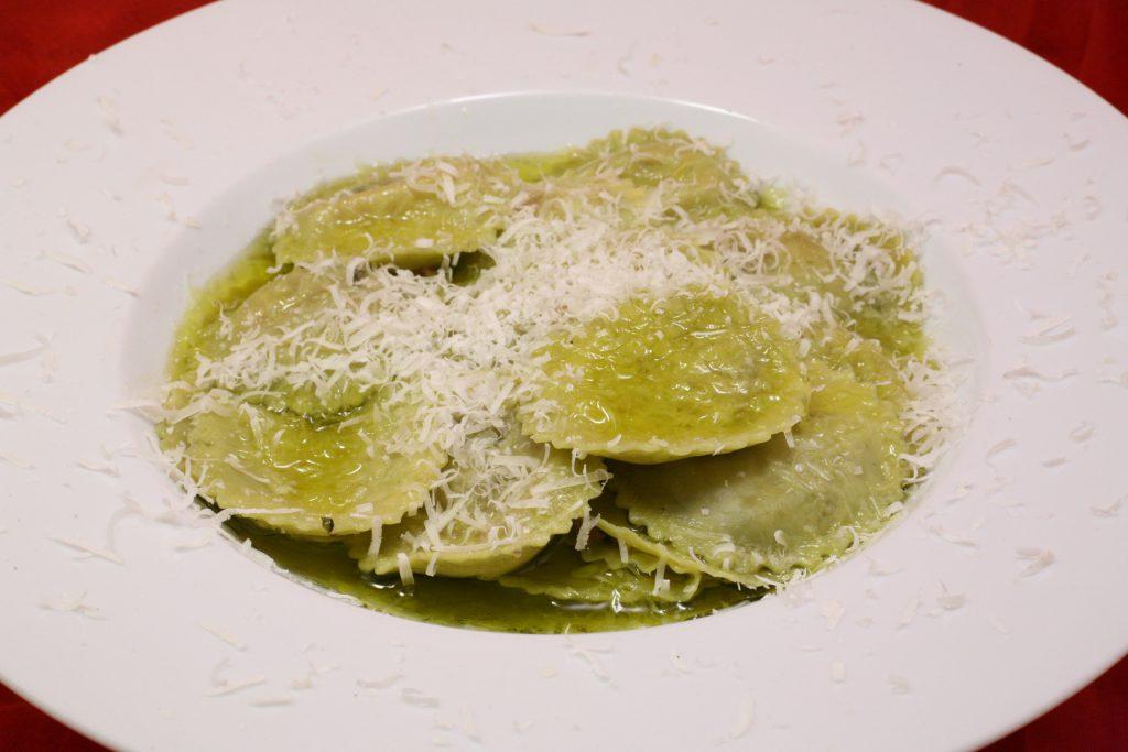 Girasoli mit Olivenöl und Parmigiano Reggiano