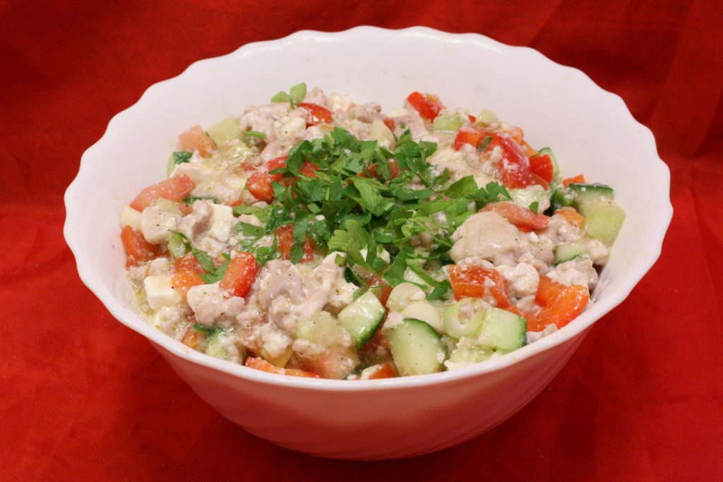 Kalbs-Hirn-Salat