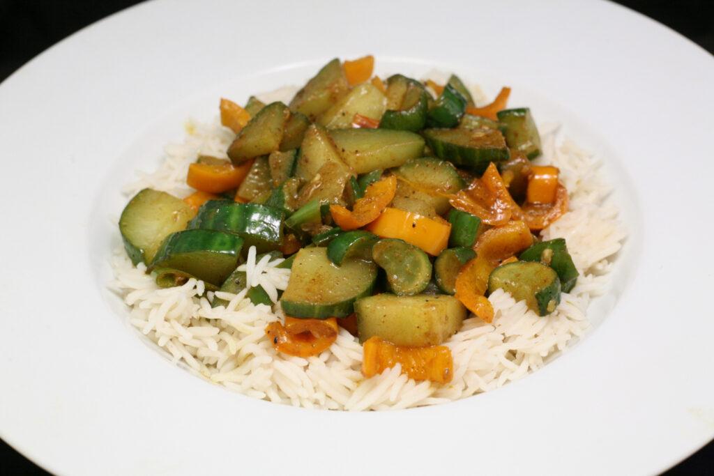 Gemüse mit Basmati-Reis