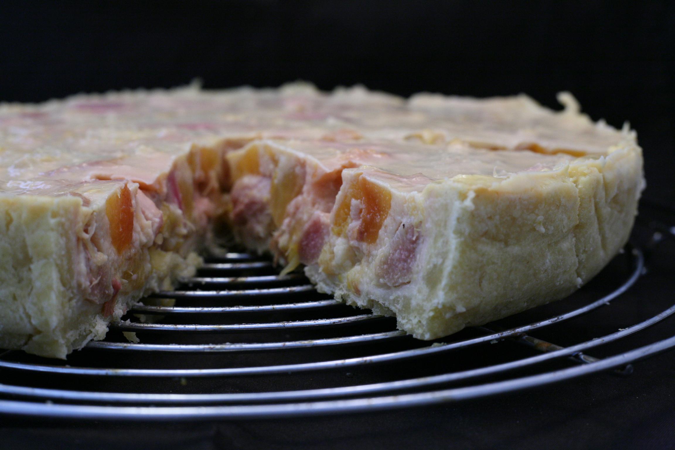 Rhabarber-Pfirsich-Tarte