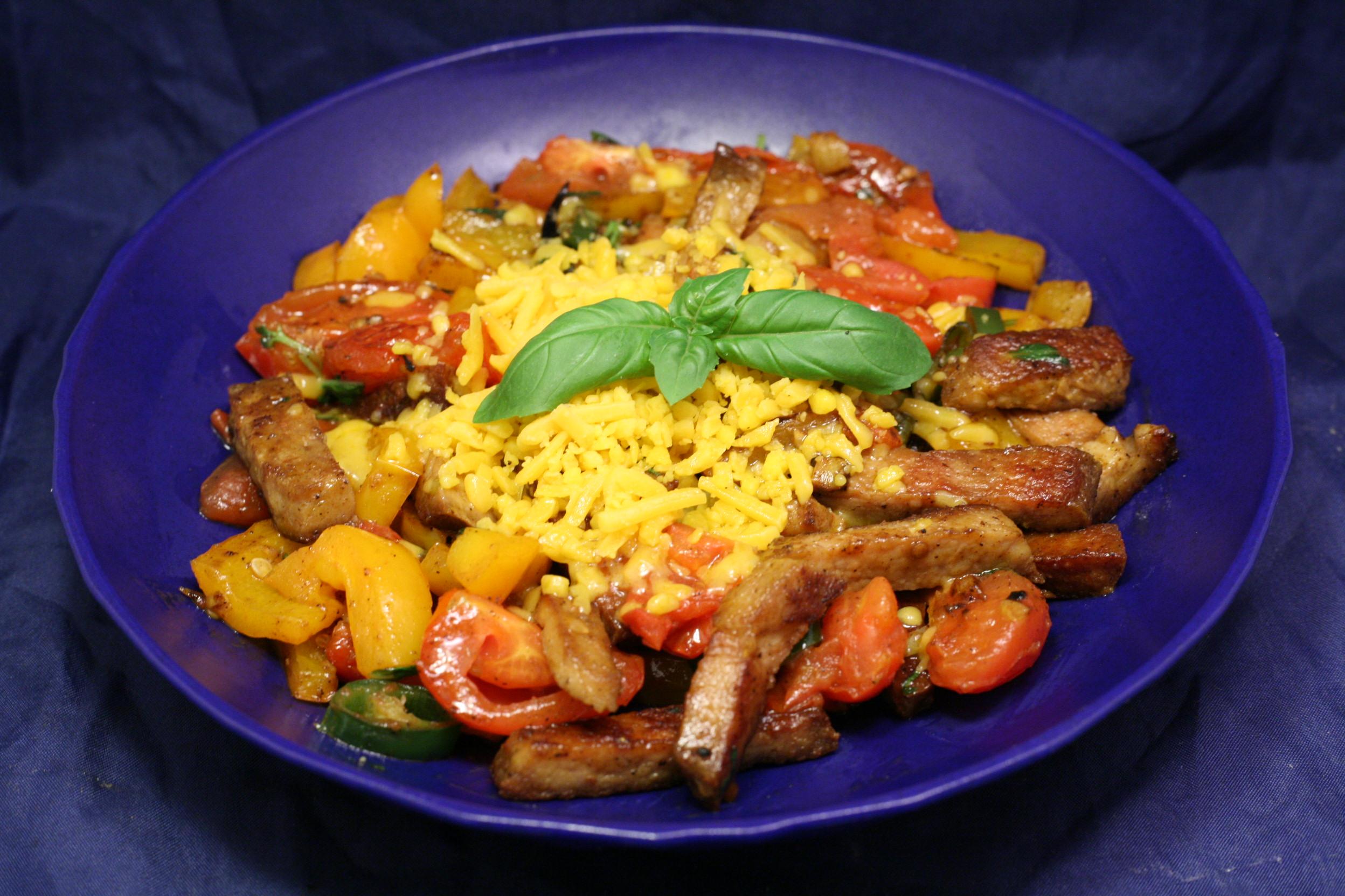 Kuheuter-Geschnetzeltes mit Gemüse