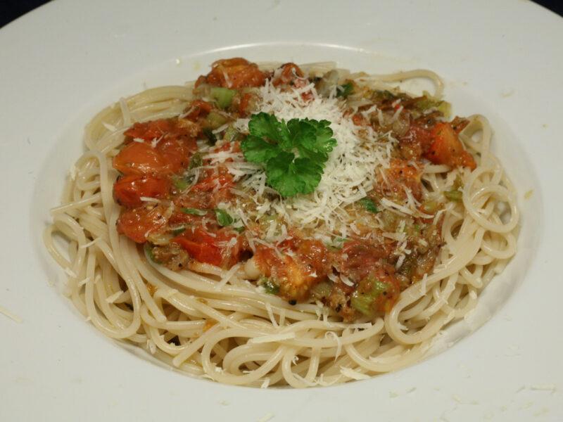 Spaghetti tomato, aglio e olio